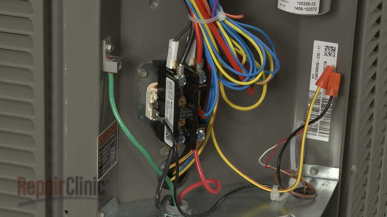 medium resolution of lennox condensing unit contactor replacement 10f73 youtube comfortmaker ac wiring diagram lennox ac wiring diagram