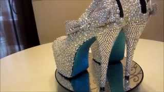 Diamonds and Pearls Bridal Shoe