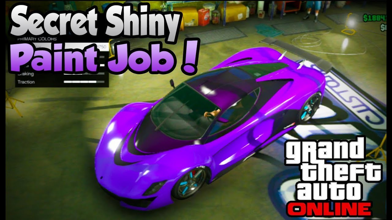 Test Paint Color Online Gta 5 Online Secret Shiny Paint Job Trick Better Colors