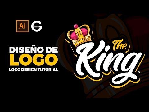 Photoshop Tutorial | Diseño de Logo THE KING | THE KING Logo Design