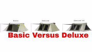 Differences between the basic and deluxe Kodiak Flex-Bow Tents
