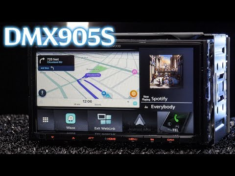 Kenwood DMX905S Digital Media Receiver - WebLink, Waze, YouTube, and No Disc Slot