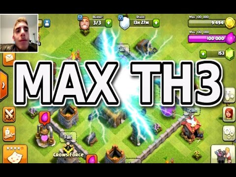 Clash Of Clans Max Town Hall 3 Base Youtube