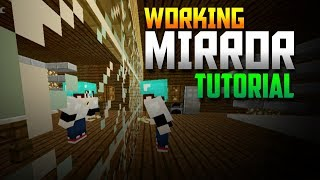WORKING REALISTIC MIRROR with Command Blocks in Minecraft PE [Tutorial]