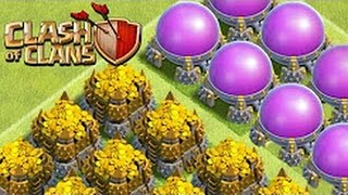 Clash of Clans -TH10-The Best Loot Attack With a Barbarians Archer and Goblin