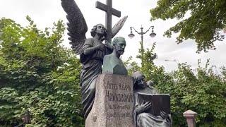 Tchaikovsky Grave. Nevsky Prospect. St Petersburg, Russia. Live