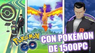 ¡COMO GANAR a GIOVANNI con Pokémon de 1500 PC! CAPTURO MOLTRES OSCURO en Pokémon GO! [Keibron]