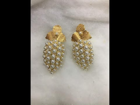 Latest Pearl and Gold Earrings Designs|Pearl Earrings Designs  |
