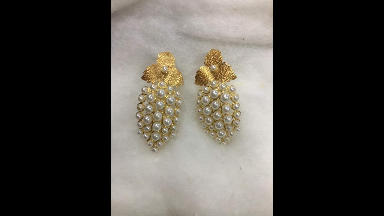 Latest Pearl And Gold Earrings Designs