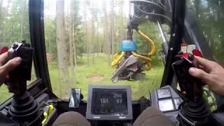 Harwester Valmet 911 inside cabin