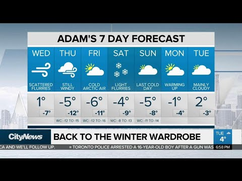 Lake-effect snow could hit Toronto overnight
