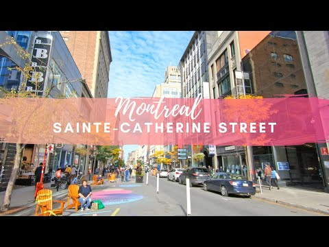 Downtown Montreal Sainte-Catherine Street / Autumn 2020 #downtownmontreal #saintecatherinestreet