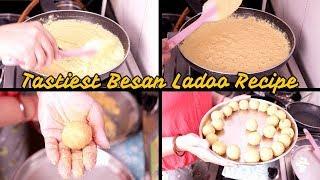 Besan Ladoo recipe || easy ladoo step by step recipe || Indian youtuber Neelam
