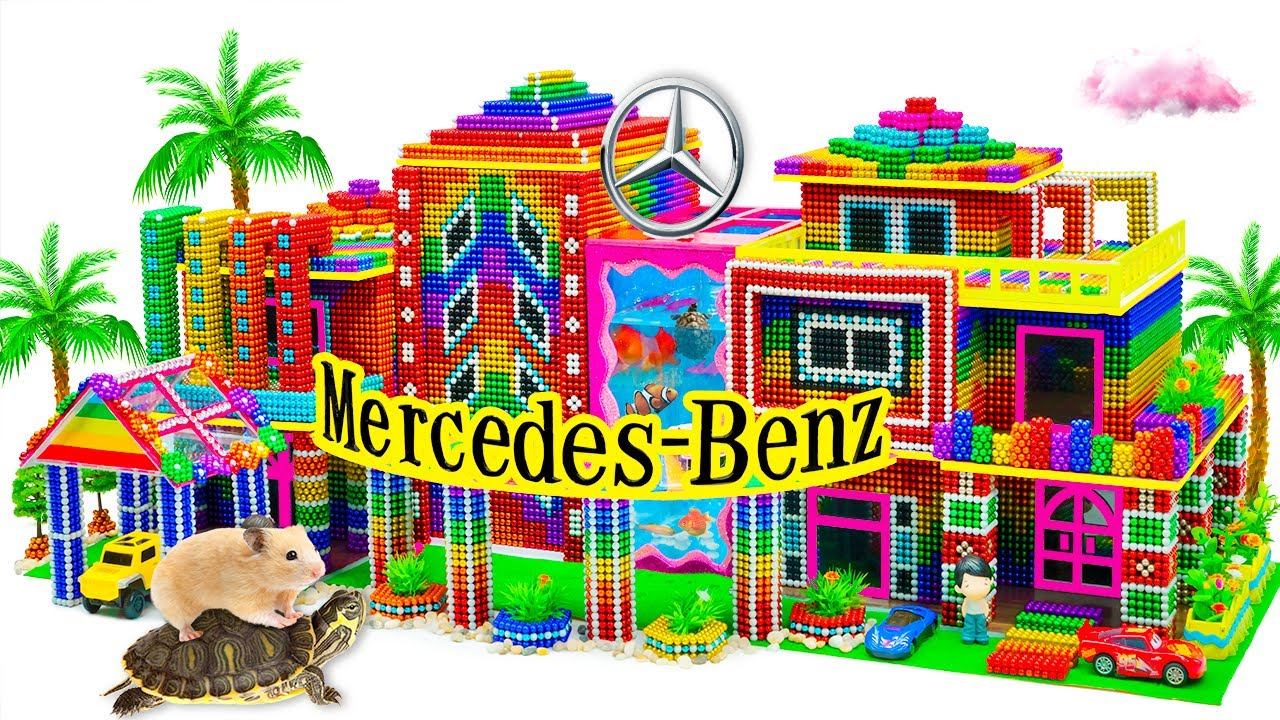 RELAX Video - Build Awesome Mercedes Benz Showroom Has Nice Design And Colorful From Magnetic Balls