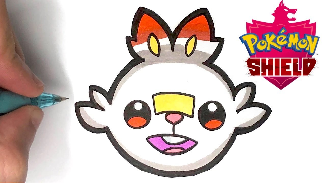 Tuto Dessiner Flambino Emoji Pokemon Epee Et Bouclier Youtube