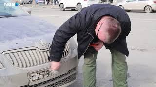 Акция ГИБДД на площади Ленина