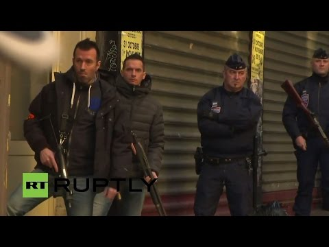 LIVE: Man shot while trying to enter police station with knife in Paris