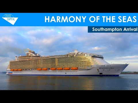 Harmony of the Seas Makes Inaugural Arrival In Southampton (17/05/2016)