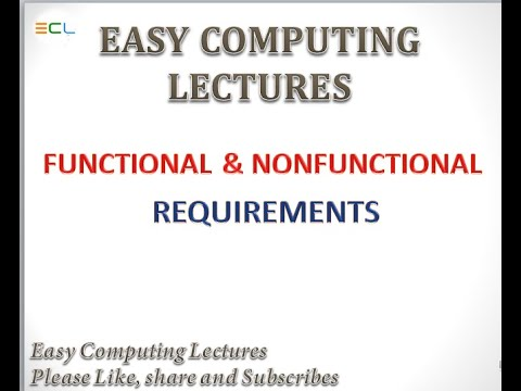 Functional And Nonfunctional Requirements System Analysis And Design Youtube