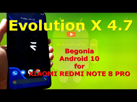 Evolution X 4.7 Android 10 Official for Redmi Note 8 Pro - Begonia
