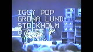 Iggy Pop Gröna Lund Stockholm Sweden 1 jul 1987