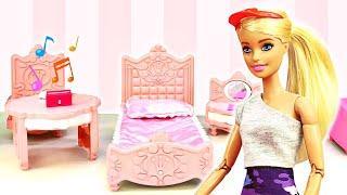 Дом Мечты БАРБИ и новый стиль для Куклы Одевалки игры макияж и причёски Смешные видео сборник