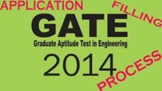 How to apply GATE-2014