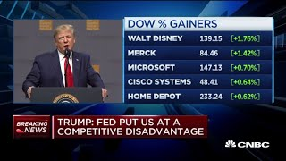 Trump: The Fed put us at a competitive disadvantage