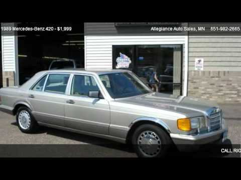 1989 mercedes benz 420 420sel for sale in forest lake for Mercedes benz lake forest