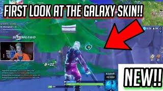First look at the 'NEW' GALAXY SKIN in Fortnite: Battle Royale! Galaxy skin gamplay by Ninja!!