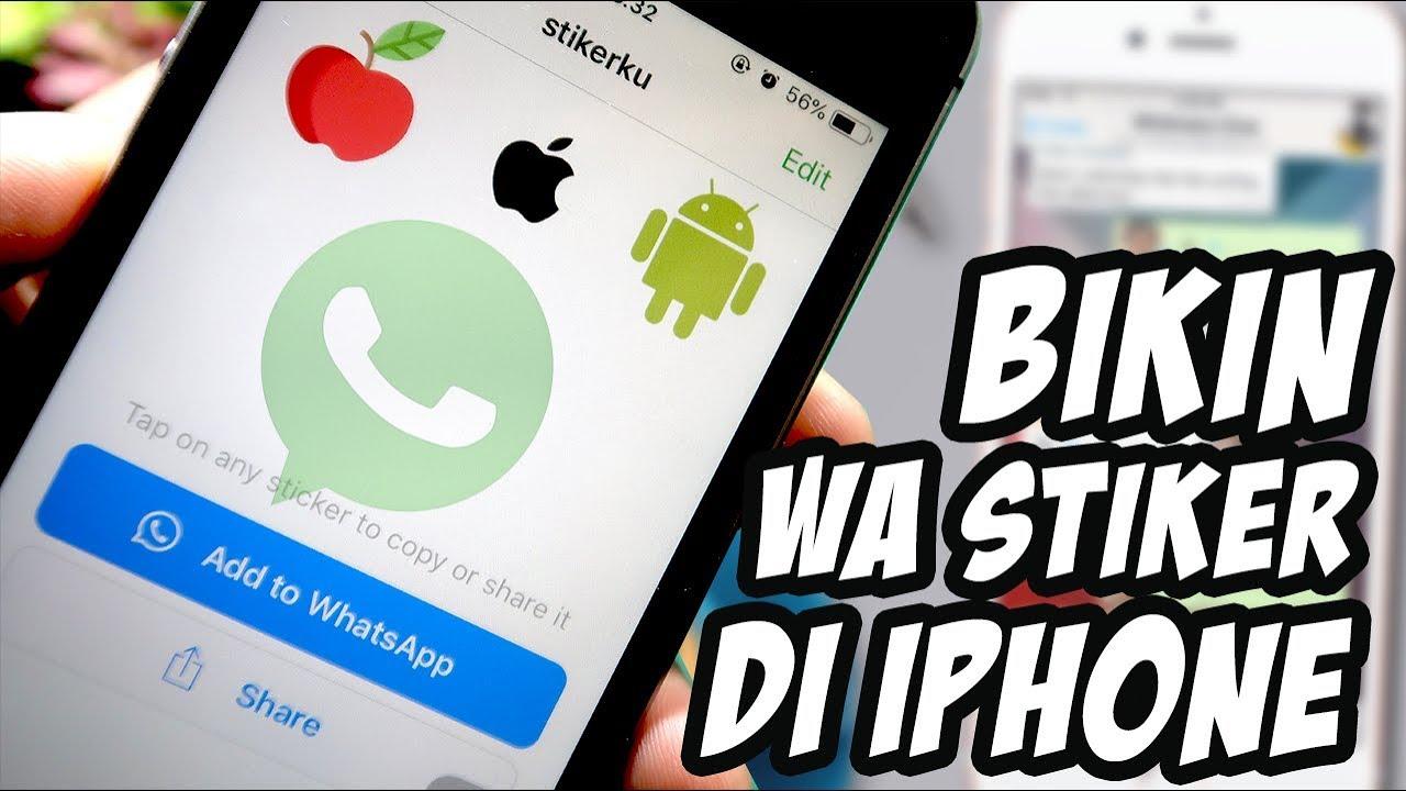 Cara Mudah MemBuat Stiker Whatsapp di iPhone