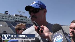 2018 BYU football: OC Jeff Grimes on Cougars' second fall scrimmage