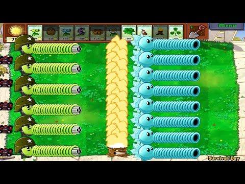 Plants vs Zombies Hack - Gatling Pea vs Snow Pea