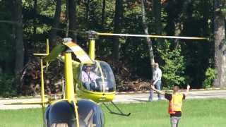 Robinson R 22 Beta II D-HESK helicopter arrive  / HeliDays Austria 2013 / HD