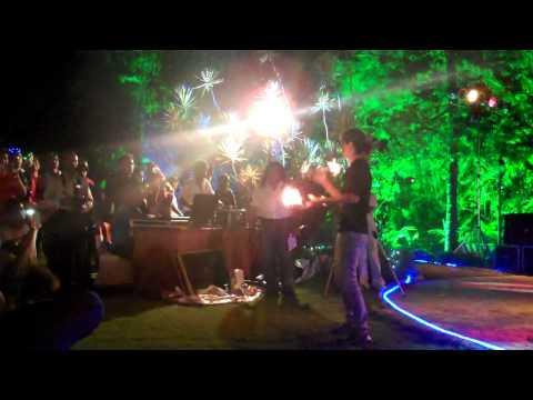 Amy Bartender show - Google India Party @ Golden Palms Resort, Bangalore