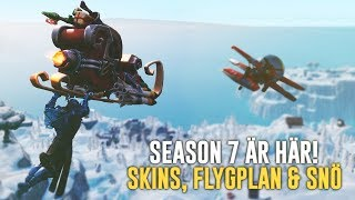 FORTNITE SEASON 7 IS HERE-NEW SNOW MAP, AIRPLANE & SKINS! (LEVEL TIER 100!) -FORTNITE IN ENGLISH