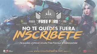 🔥¡REGÍSTRATE A LOS CIRCUITOS FREE FIRE 2019!🔥