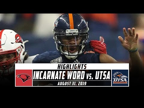 Incarnate Word Vs. UTSA Football Highlights (2019) | Stadium