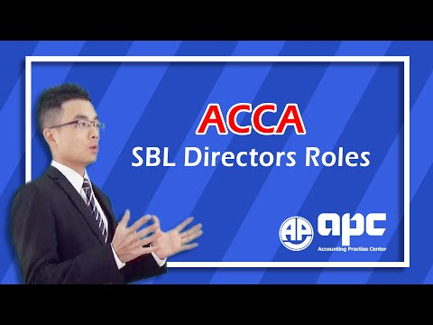ACCA P1 Governance, Risk & Ethics Directors