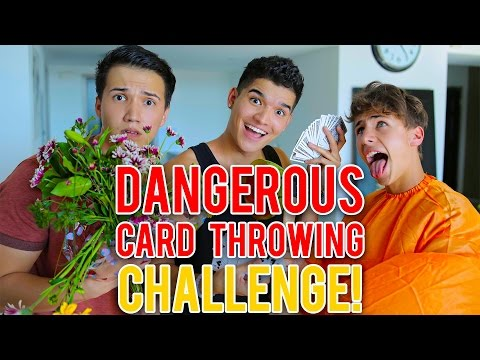 DANGEROUS CARD THROWING!!