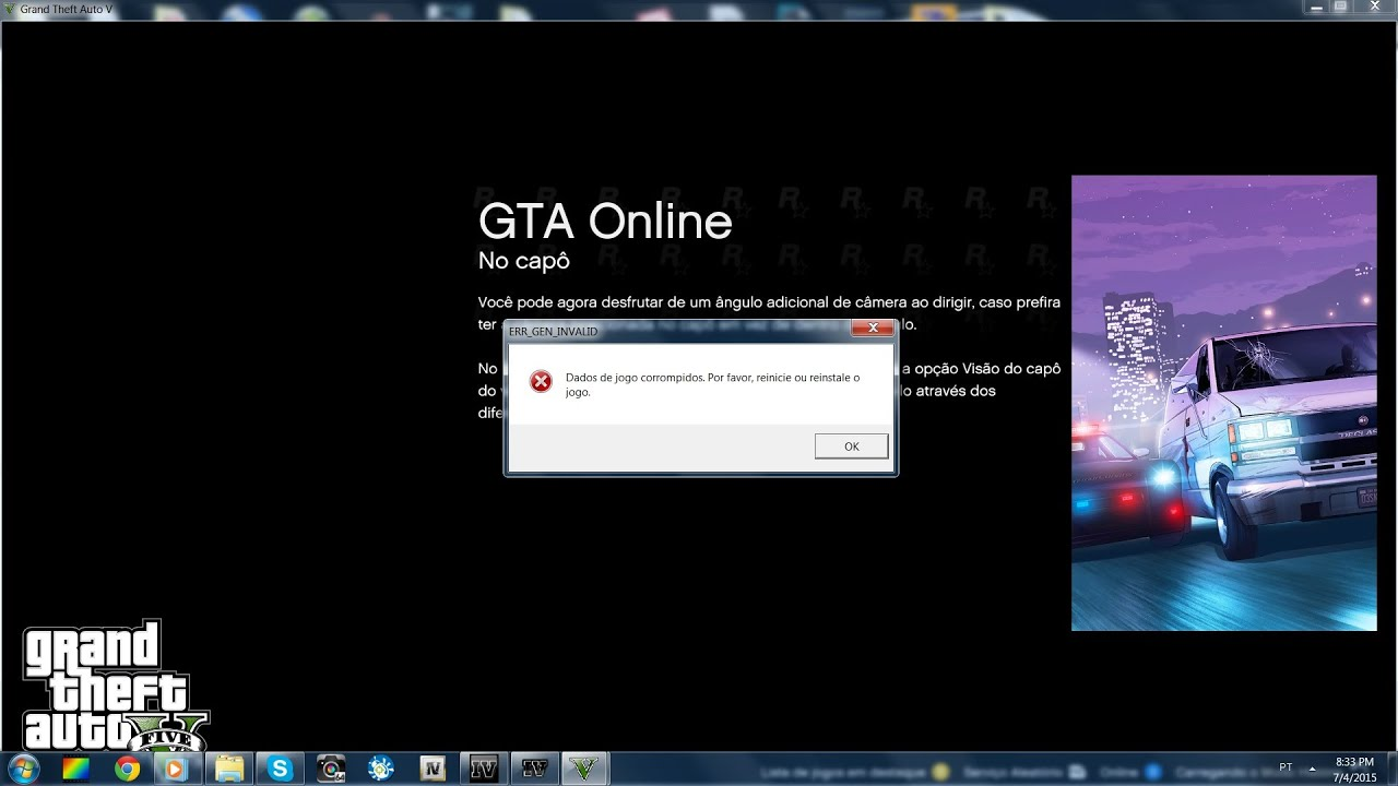 GTA 5 PC error after openiv and mods Not working corrupted game files