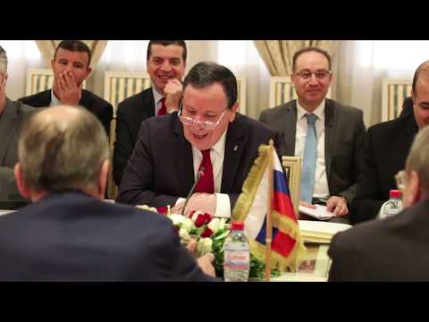 وزير الشؤون الخارجية يستقبل نظيره الروسي سرغاي لافروف