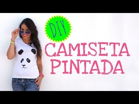 Cómo pintar una camiseta paso a paso - Panda - YouTube