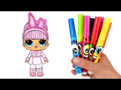 How to Draw LOL Doll Snow Bunny | LOL Surprise Hair Goals Makeover Series 5 Drawing & Coloring