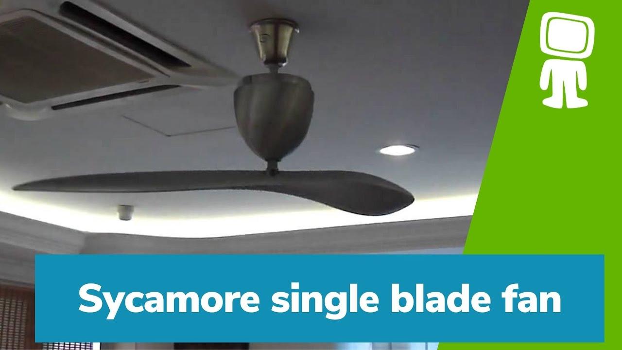 Sycamore single blade fan - YouTube