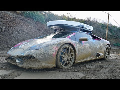800HP LAMBO GOES OFF-ROADING, car ruined...