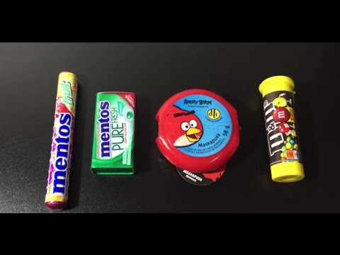 Angry Birds Chewing Gum Mentos Gum Pure Mentos Mints Fruit Candy M&M's chocolate