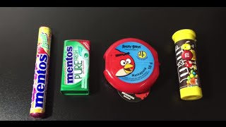 Angry Birds Chewing Gum Mentos Gum Pure Mentos Mints Fruit Candy M&M