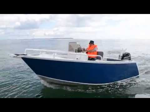 Dorset Fast Fishing Boats 5.3M Aluminium Boat With 100HP Mercury At Sea