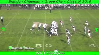 OH 2016 Brandon Chapman  Grove City  So Yr  TE23
